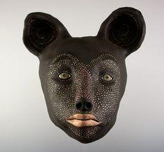 Ceramic Wall Mask  Big Bear  Jenny Mendes Artist by jennymendes, $600.00
