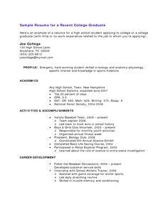 College Graduate | 4-Resume Examples | Sample resume, Resume ...