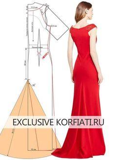 Sewing-dress-with-train. Sewing Dress, Dress Sewing Patterns, Diy Dress, Sewing Clothes, Clothing Patterns, Pattern Sewing, Bags Sewing, Fashion Sewing, Diy Fashion