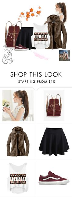 """Cute windy outfit"" by babyjones3 ❤ liked on Polyvore featuring Monki, WithChic, Vans and GUESS"