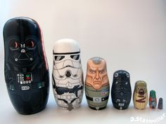 Awesome Hand Painted Nesting Dolls Inspired by the World of Pop Culture
