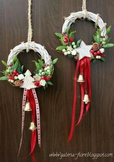 """"" 68 Amazing Holiday Wreaths for your Front Door – Happily Ever After, Etc. """" 68 Amazing Holiday Wreaths for your Front Door – Happily Ever After, Etc. Christmas Door, Christmas Holidays, Christmas Ornaments, White Christmas, Christmas Projects, Holiday Crafts, Holiday Wreaths, Xmas Decorations, Christmas Inspiration"