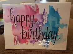 Happy birthday verjaardagskaart met ecoline Handlettering handletteren