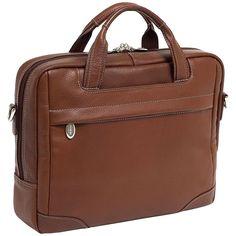 McKleinUSA BRIDGEPORT 15474L Brown Leather Large Laptop Brief