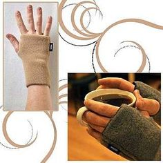 """Heated Wristies - SM/Camel. Small: 6"""" long, fit most women. Heated Wristies also include a pair of air activated and disposable Hot Hands® hand warmers lasting 8-10 hours. 100% Polyester. Great for folks who work or play in extreme conditions, have circulatory problems like Raynauds, Arthritis, etc., or have frequent IVs. Tumble low or line dry. Includes one pair of HotHands® air-activated mini hand warmers. Heated Wristies can also be worn without hand warmers and function like..."""
