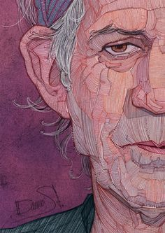 The Rolling Stones: Illustrated Portraits by Stavros Damos | Inspiration Grid | Design Inspiration