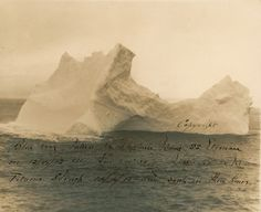 A photograph of the iceberg that sank the Titanic is to be auctioned in America next month - thought to be one of the only images of the iceberg in existence.