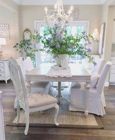 [New] The 10 All-Time Best Home Decor (Right Now) - Home Decor by Beatrice Wydra - Dining Chairs, Dining Table, Dining Rooms, Cosy House, Country Chic, Shabby Chic Decor, Furniture Decor, New Homes, House Design