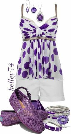 Purple TOMS Outfits