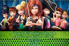 Convite digital personalizado Fadas Disney 020