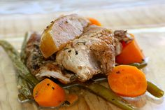 Balsamic Glazed Pork with Apples, Green Beans, and Carrots