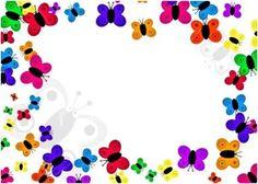 Caraátulas para trabajos de kinder preparatoria de niñas, carátulas para niñas, carátulas de colores, carátulas lindas infantiles para niñas decorar trabajos de niñas, bordes infantiles de mariposas