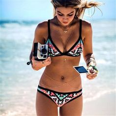 100% brand new and high quality Brazilian Bikini, Strapless push up bandeau : Sexy and attractive. Steel support padded to guarantee a safe swim,it avoids accidental exposure. 3 sizes for you to choose. A good gift for your lover or your friends. #bikini #summer #sun #beach #swimwear