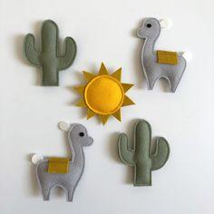 Mini Craft, Toy Craft, Felt Garland, Felt Ornaments, Cowboy Baby Clothes, Boy Box, Alpaca, Handmade Baby Gifts, Baby Room Design