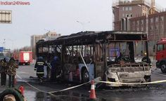 Driver set fire to the school bus in China: Investigators