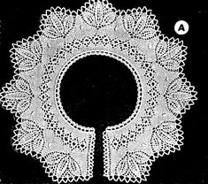 Knitting Paterns, Lace Knitting, Lace Necklace, Lace Collar, Knit Or Crochet, Cool Patterns, Doilies, Free Pattern, Symbols