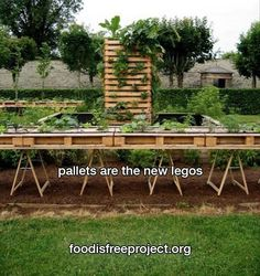 A garden that you won't need to weed as much and you won't have to get on your knees.