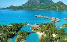 A 230 km do Taiti, na Polinésia Francesa, a ilha de Bora Bora é ideia para quem quer praticar esportes aquáticos como mergulho, windsurf e esqui.