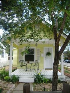 Cute yellow house