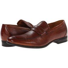 Florsheim Burbank Penny Moc (Cognac) Men's Slip-on Dress Shoes ($76) ❤ liked on Polyvore featuring men's fashion, men's shoes, men's dress shoes, tan, mens cognac dress shoes, florsheim mens dress shoes, florsheim mens shoes, mens slip on shoes and mens slip on dress shoes