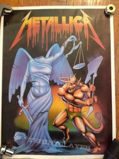 metallica poster I OWN ONE OF THESE POSTERS HAVE FOR 23  YEARS AND WILL SELL IT