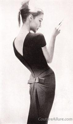 Couture Allure Vintage Fashion: Little Black Dresses - 1956