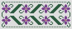 Quick and easy floral bookmark cross stitch pattern,great for beginners.You can change the colors if you like, or use only one color, a matter of choice.