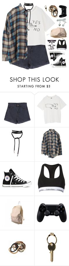 """01 // Happy Easter"" by spriingy ❤ liked on Polyvore featuring Lamoda, UNIF, Converse, Calvin Klein, Sony and Maison Margiela"