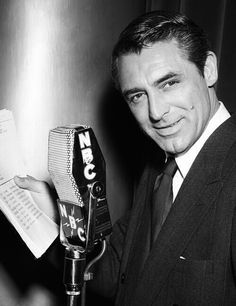 Cary Grant doing a radio show of Mr. Lucky at the Screen Director's Playhouse, 1950