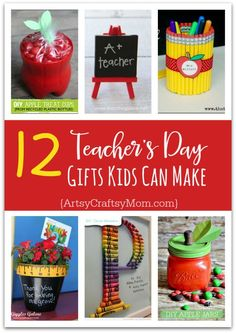 12 Useful Crafts For Teachers Day that Kids Can Make Teachers love cute handmade gifts from their students. Check out these 12 Useful Crafts For Teachers Day that Kids Can Make without too much time or effort! Teachers Day Gifts, Teacher Christmas Gifts, Cute Kids Crafts, Crafts For Kids To Make, Kids Fun, Toddler Crafts, Carpe Diem, Homemade Teacher Gifts, Teacher Appreciation Cards