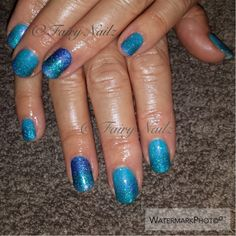 #CNDShellac with glitter fade