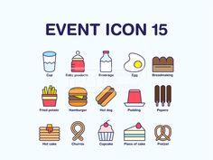 ILL166, 프리진, 아이콘, 플랫 아이콘, 이벤트, ILL166b, 에프지아이, 벡터, 웹소스, 웹활용소스, 웹, 소스, 활용, 생활, 아이콘, 픽토그램, 심플, 플랫, 컬러, 컬러아이콘, 귀여운, 귀여운아이콘, 컬러풀, 컵, 물컵, 유아용품, 음료, 달걀, 빵집, 감자튀김, 패스트푸드, 햄버거, 푸딩, 핫도그, 빼뺴로, 핫케이크, 츄러스, 컵케이크, 조각케이크, 프레첼, 음식, 과자, icon,  #유토이미지 #프리진 #utoimage #freegine 20105162