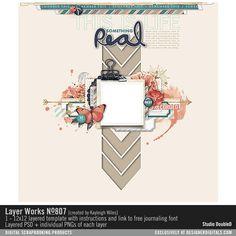Layer Works No. 807- Studio Double-D Templates- LT900422- DesignerDigitals