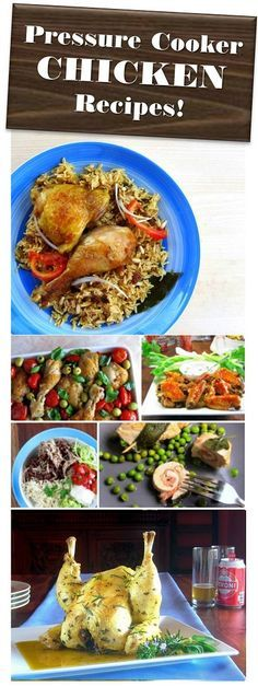 Pressure Cooker Chicken Recipes for stovetop and electric pressure cookers - including Instant Pot.