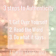 Being Authentically Authentic according to God's Word