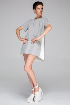 Panelled A-Line Dress - FrontRowShop