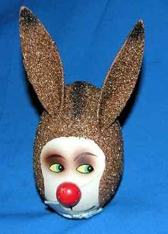 Vtg 1960's West German Easter Bunny Face Candy Container | eBay