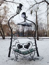 Romantic bench in Novosibirsk :)