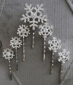 Elsa/ Frozen Inspired Snowflake Hair Clips/ Bobby Pins. Sturdy. Metal & Rhinestones. Wig/ Hair. Princess Cosplay, Dress-up, Parties, Wedding