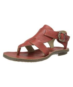 96b055d42985 FLY London Devil Red Bany Leather Sandal