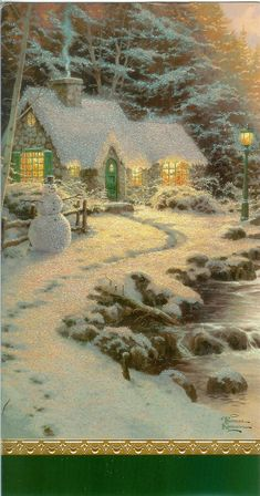 """Thomas Kincade """"Painter of Light"""" One of my FAVORITE painters of all time. I'm fortunate to own some of his paintings."""