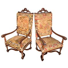Set of 2 English arm chairs