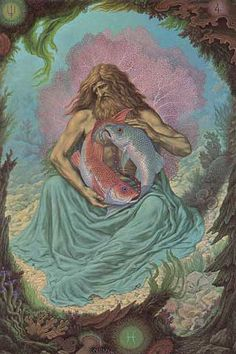 PISCES - I leave the Father's home and turning back, I save. Art by Johfra
