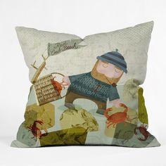 Sabine Reinhart Monday Crab Walk Outdoor Throw Pillow | DENY Designs Home Accessories