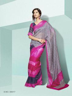 Shop online for Sarees, Salwar Kameez & Lehenga Choli at best prices on Variation Fashion. Lehenga Choli, Sari, Printed Sarees, Salwar Kameez, Pink Blue, Prints, Shopping, Color, Dresses