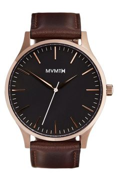 MVMTM rich leather band and rose gold details. / @nordstrom