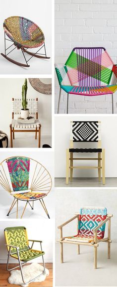 8 Ways to use Macrame in your home - Diy Möbel Cool Furniture, Furniture Design, Furniture Stores, Garden Furniture, Macrame Chairs, Diy Casa, Wood Bridge, Deco Design, Home And Deco
