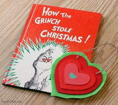 Homemade Christmas ornament inspired by The Grinch's growing heart