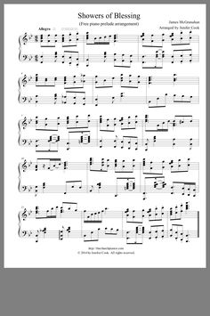 Showers of Blessing (Free Piano Prelude Arrangement) Piano Lessons, Music Lessons, Primary Lessons, Mary Had A Baby, Piano Sheet Music, Music Sheets, Showers Of Blessing, Church Songs, Visiting Teaching Handouts