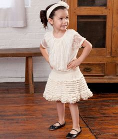 Too Cute Skirt and Flower Headband FREE PATTERN